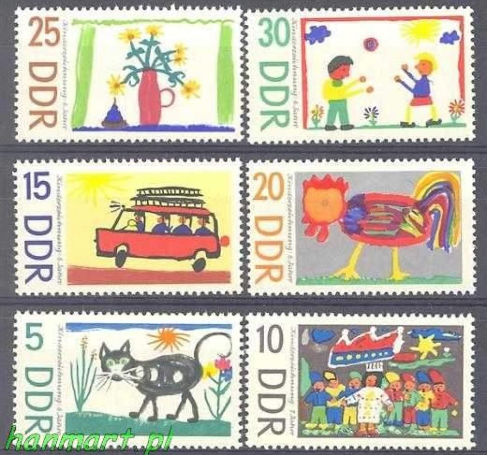 NRD / DDR 1967 Mi 1280-1285 Czyste **