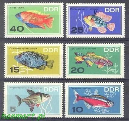 Znaczek NRD / DDR 1966 Mi 1221-1226 Czyste **