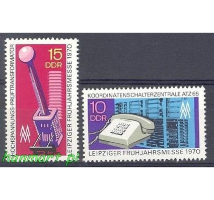 Znaczek NRD / DDR 1970 Mi 1551-1552 Czyste **