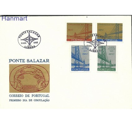 Znaczek Portugalia 1966 Mi 1008-1011 FDC