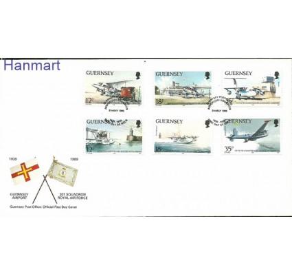 Guernsey 1989 Mi 453-458 FDC
