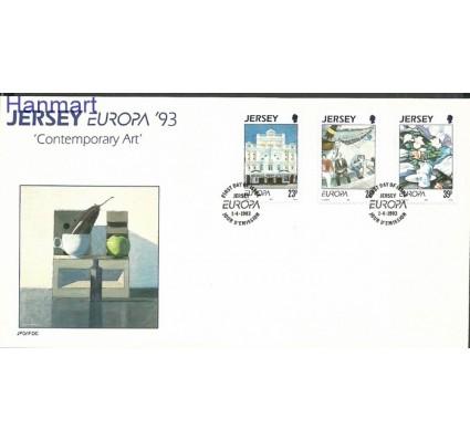 Znaczek Jersey 1993 Mi 612-614 FDC