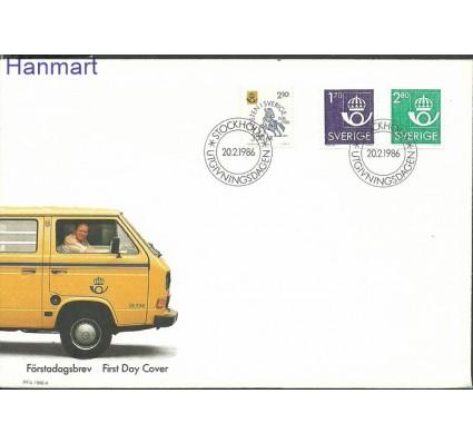 Znaczek Szwecja 1986 Mi 1379-1381 FDC