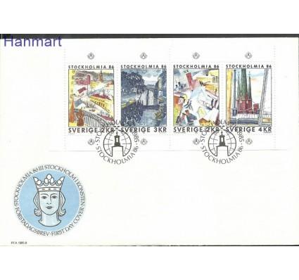 Szwecja 1985 Mi h-blatt 134 FDC