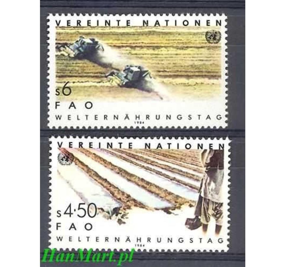 Narody Zjednoczone Wiedeń 1984 Mi 39-40 Czyste **