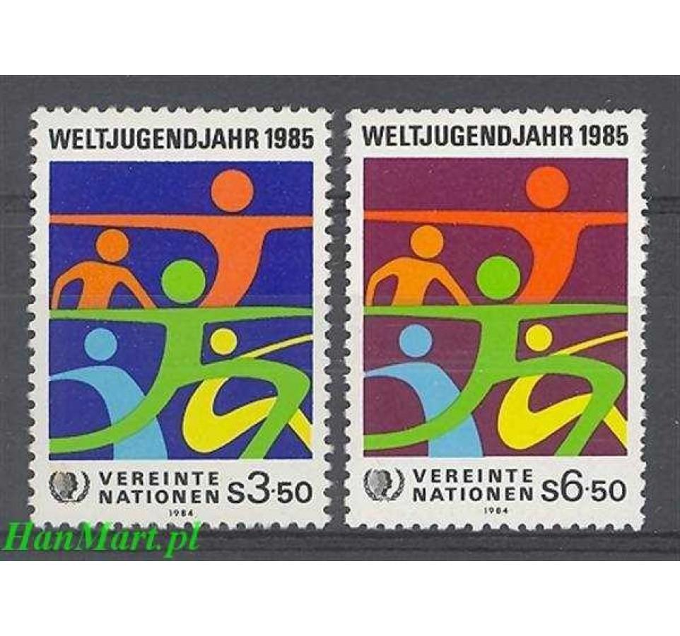 Narody Zjednoczone Wiedeń 1984 Mi 45-46 Czyste **