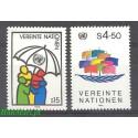 Narody Zjednoczone Wiedeń 1985 Mi 49-50 Czyste **