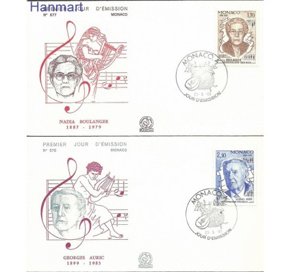 Monako 1985 Mi 1693-1694 FDC