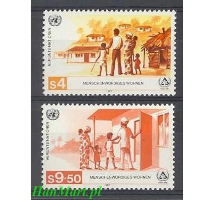 Narody Zjednoczone Wiedeń 1987 Mi 69-70 Czyste **