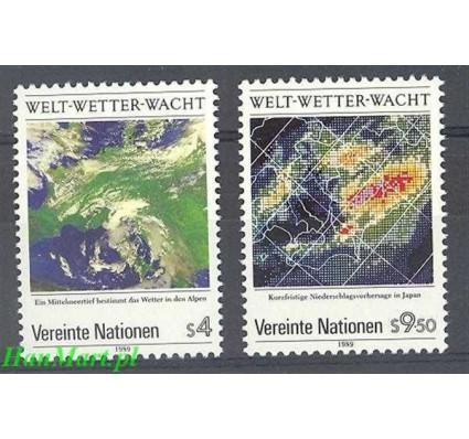 Narody Zjednoczone Wiedeń 1989 Mi 92-93 Czyste **