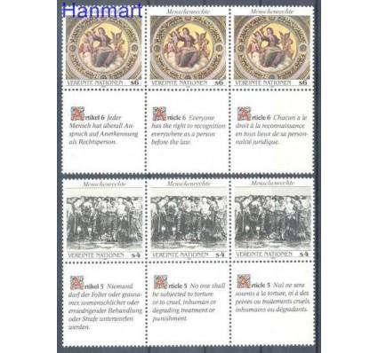 Znaczek Narody Zjednoczone Wiedeń 1989 Mi 96-97 Czyste **