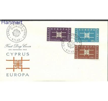 Znaczek Cypr  1963 Mi 225-227 FDC