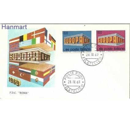 Znaczek Włochy 1969 Mi 1295-1296 FDC