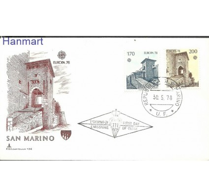 San Marino 1978 Mi 1156-1157 FDC