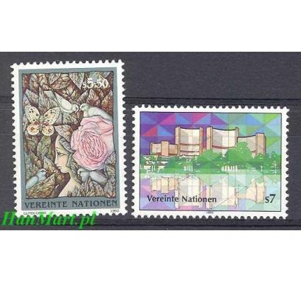 Narody Zjednoczone Wiedeń 1992 Mi 137-138 Czyste **