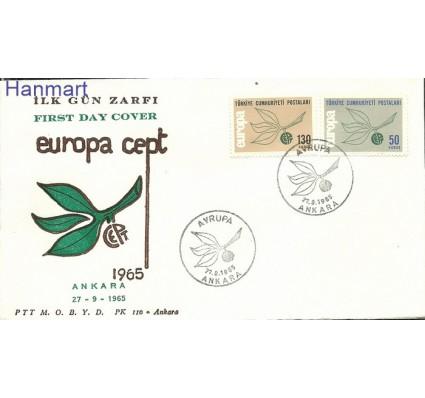 Znaczek Turcja 1965 Mi 1961-1962 FDC