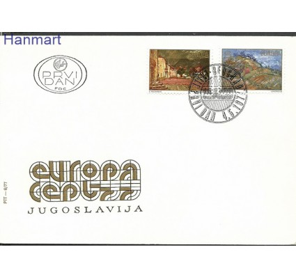 Znaczek Jugosławia 1977 Mi 1684-1685 FDC