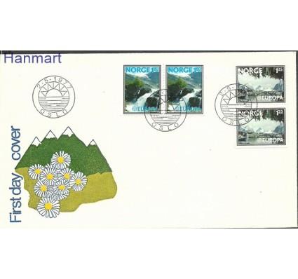 Znaczek Norwegia 1977 Mi par742-743 FDC