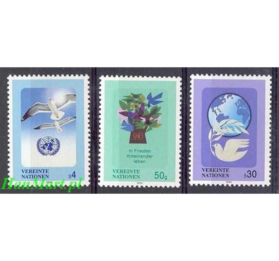Narody Zjednoczone Wiedeń 1994 Mi 167-169 Czyste **