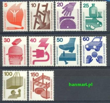 Niemcy 1971 Mi 694-703 Czyste **