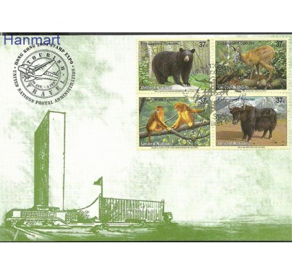Narody Zjednoczone Nowy Jork 2004 Mi 946-949b Karta Max