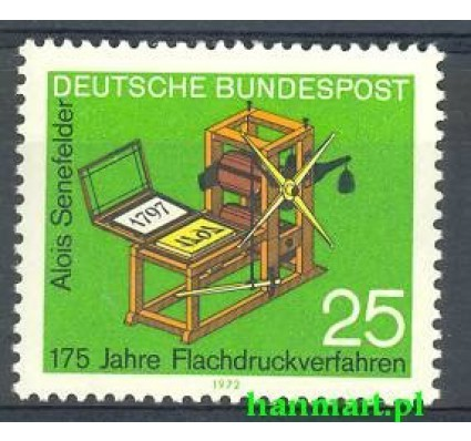 Niemcy 1972 Mi 715 Czyste **