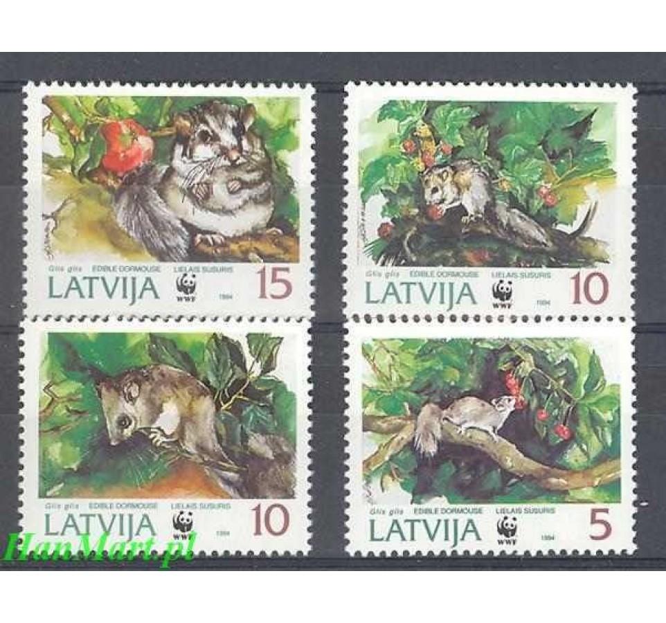 Łotwa 1994 Mi 378-381 Czyste **