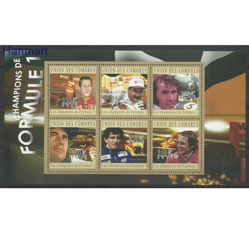 Komory 2010 Mi ark2789-2794 Czyste **