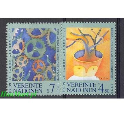 Narody Zjednoczone Wiedeń 1998 Mi 268-269 Czyste **