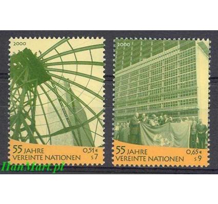 Znaczek Narody Zjednoczone Wiedeń 2000 Mi 309-310 Czyste **