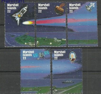Znaczek Wyspy Marshalla 1985 Mi 62-66 Czyste **