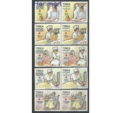 Znaczek Tonga 1988 Mi par1051-1060 Czyste **