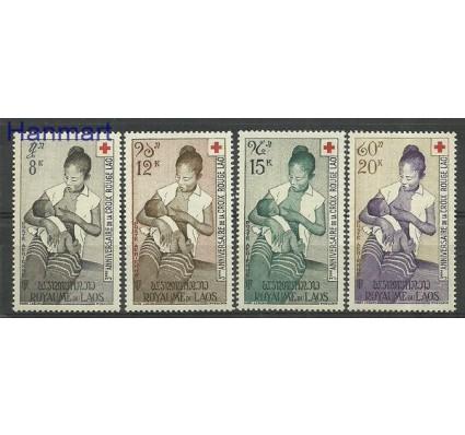 Znaczek Laos 1958 Mi 81-84 Czyste **
