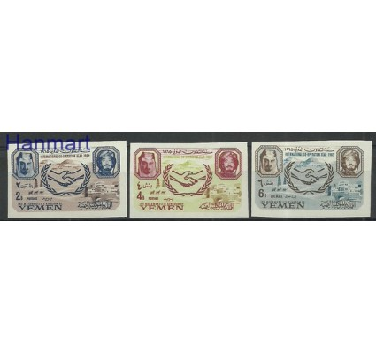 Znaczek Jemen Królestwo 1965 Mi 169-171B Z podlepką *