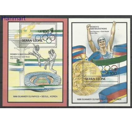 Sierra Leone 1988 Mi bl 96-97 Czyste **