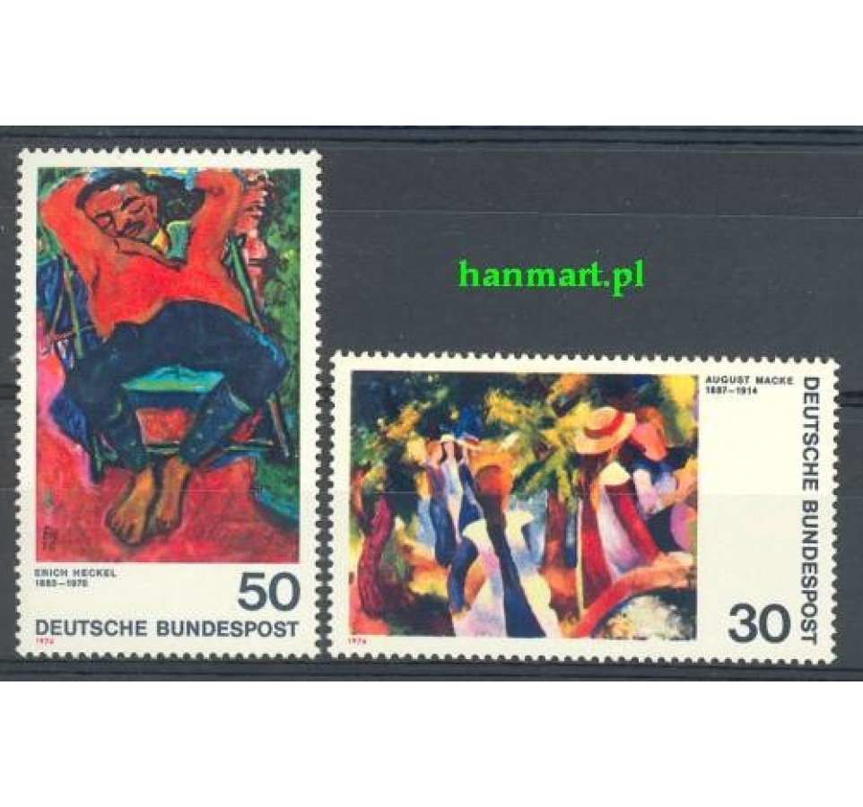 Niemcy 1974 Mi 816-817 Czyste **