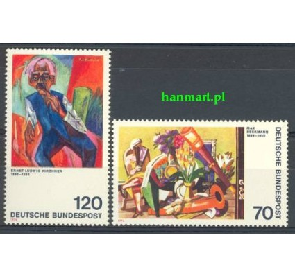 Niemcy 1974 Mi 822-823 Czyste **