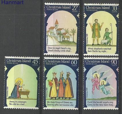 Znaczek Wyspa Bożego Narodzenia 1985 Mi 211-215 Czyste **