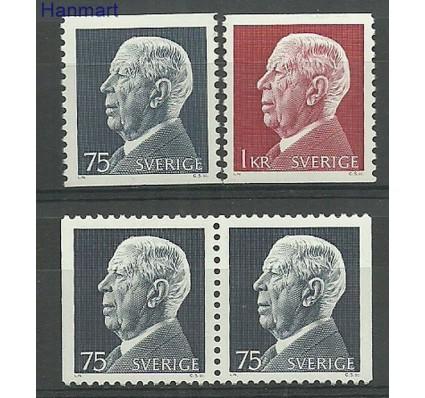 Znaczek Szwecja 1972 Mi 779-780a,dl,dr Czyste **
