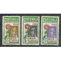 Gwatemala 1969 Mi 859-861 Czyste **