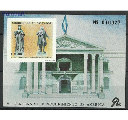 Znaczek Salwador 1989 Mi bl43 Czyste **
