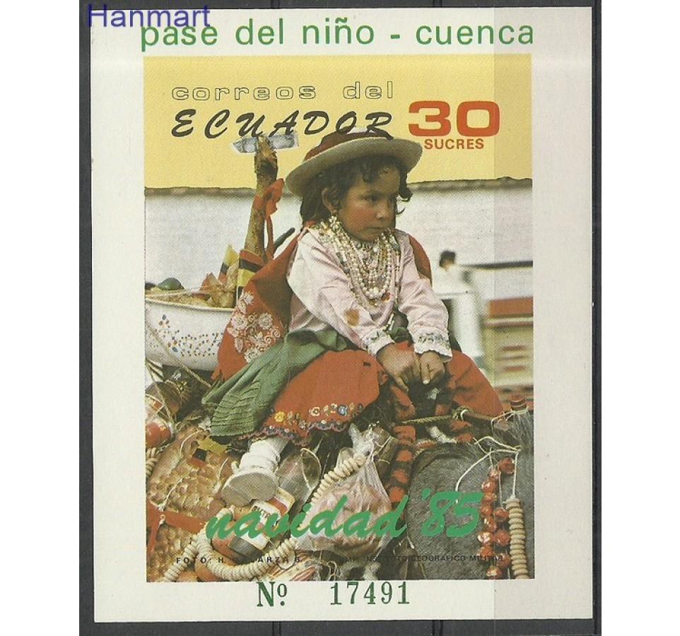 Ekwador 1985 Mi bl 121 Czyste **