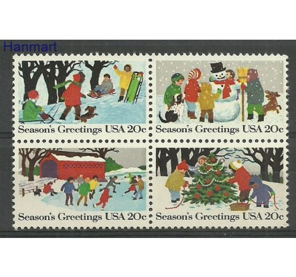 Znaczek USA 1982 Mi 1607-1610 Czyste **