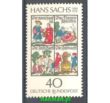 Niemcy 1976 Mi 877 Czyste **