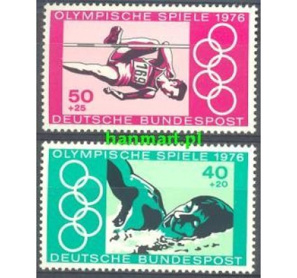 Niemcy 1976 Mi 886-887 Czyste **