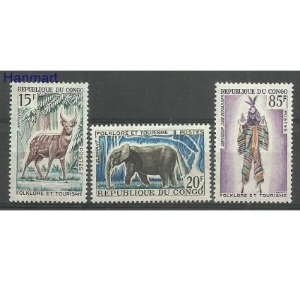 Znaczek Kongo 1965 Mi 64-66 Z podlepką *