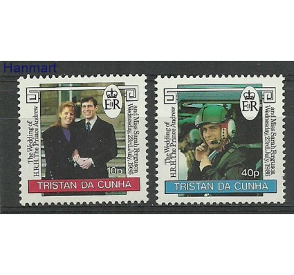 Znaczek Tristan da Cunha 1986 Mi 410-411 Czyste **