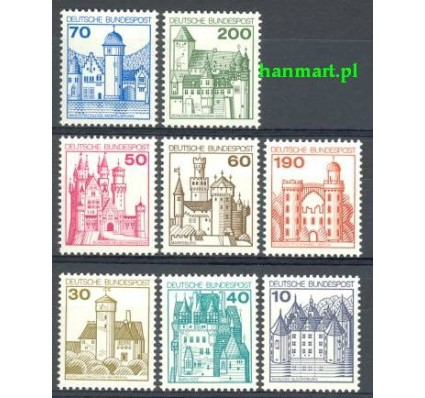 Niemcy 1977 Mi 913-920 Czyste **