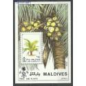 Malediwy 1987 Mi bl135 Czyste **