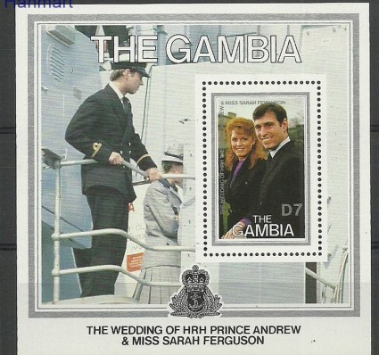 Gambia 1986 Mi bl27 Czyste **